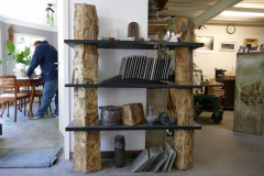 Werkstatt und Blick ins Büro